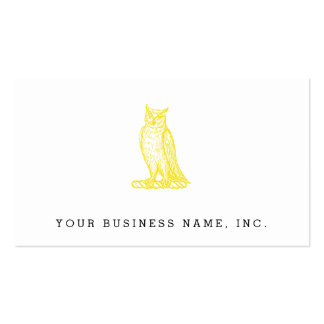 Golden Owl Crest Letterpress Style Double-Sided Standard Business Cards (Pack Of 100)