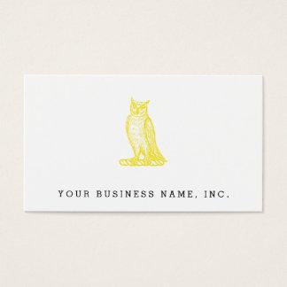 Golden Owl Crest Letterpress Style Business Card