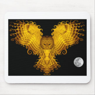 GOLDEN OWL MOUSE PAD