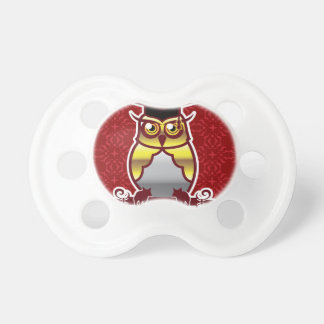 Golden Owl on Royal Background Pacifier