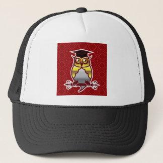Golden Owl on Royal Background Trucker Hat