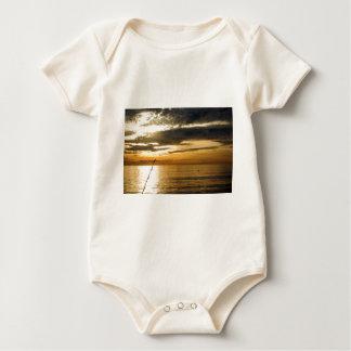 golden pacific sunset baby bodysuit