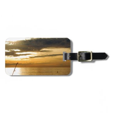 Beach Themed golden pacific sunset bag tag