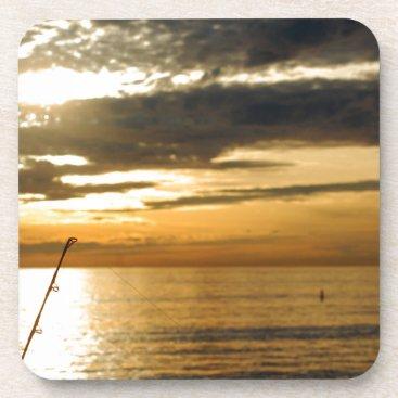 golden pacific sunset beverage coaster