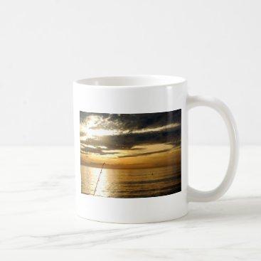 Beach Themed golden pacific sunset coffee mug
