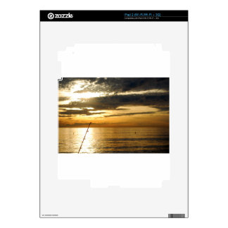 golden pacific sunset decal for iPad 2