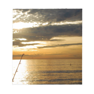 golden pacific sunset notepad