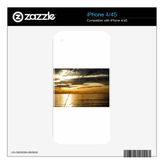 golden pacific sunset skins for the iPhone 4S