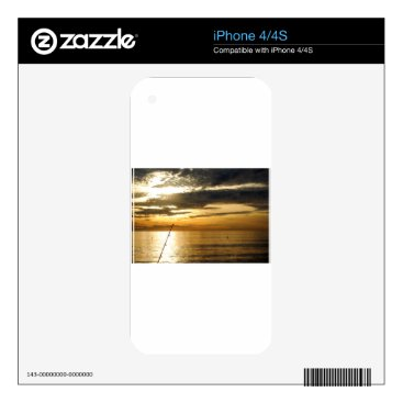 Beach Themed golden pacific sunset skins for the iPhone 4S