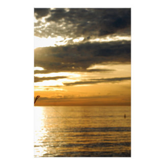 golden pacific sunset stationery