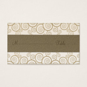 Golden Paisley on Blue Wedding Place cards