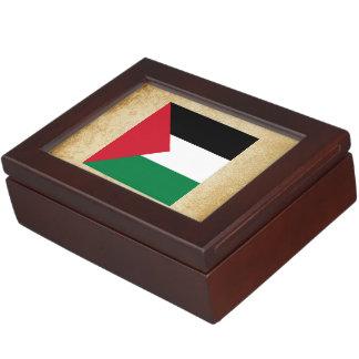 Golden Palestine Flag Memory Box