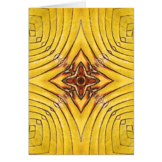 Golden Palm Frond Mandala Card