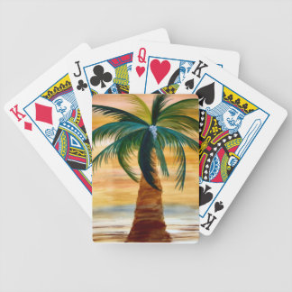 Golden Palm Tree Playing Cards from art Bicycle Playing Cards