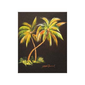 "Golden Palms 8"" x 10"" Canvas Print"