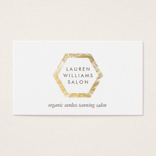 Golden palms spray tanning salon logo on white business card golden palms spray tanning salon logo on white business card colourmoves