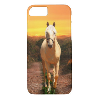 Golden palomino at sunset iPhone 7 case