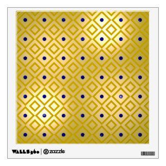 Golden Panels with Gemstones Room Graphics