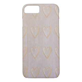 Golden Paper Hearts Abstract iPhone 7 Cases