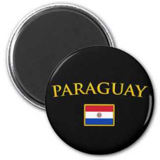 Golden Paraguay 2 Inch Round Magnet