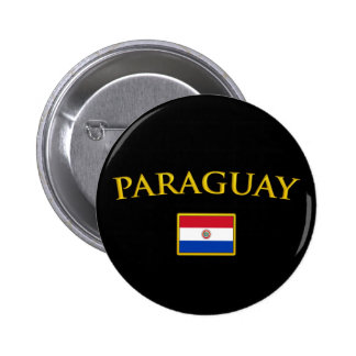 Golden Paraguay 2 Inch Round Button