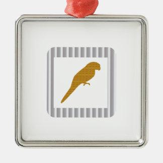 GOLDEN Parrot Pet Fairrytale Bird NVN279 FUN Kids Christmas Tree Ornament