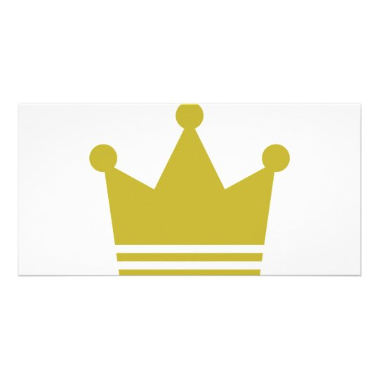 golden party crown icon card