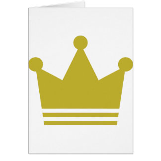 golden party crown icon greeting card