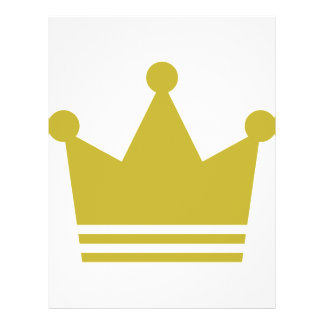 "golden party crown icon 8.5"" x 11"" flyer"