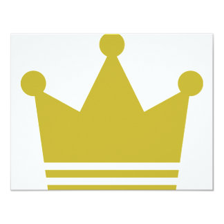 golden party crown icon 4.25x5.5 paper invitation card