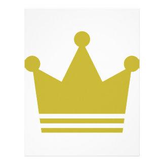 golden party crown icon letterhead