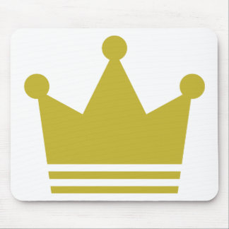 golden party crown icon mouse pad