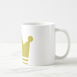golden party crown icon classic white coffee mug