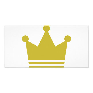 golden party crown icon photo card