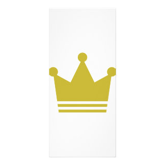 golden party crown icon rack card design