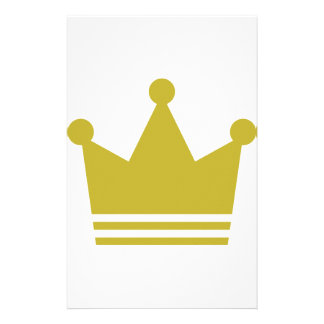 golden party crown icon stationery