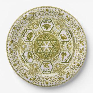 Golden Passover Seder Plate Ornate