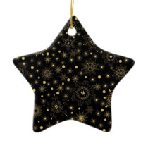 Golden Pattern Ceramic Star Ornament