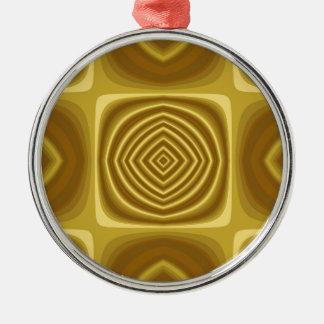 Golden Pattern Metal Ornament