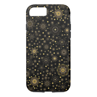 Golden Pattern Tough iPhone 7 Case