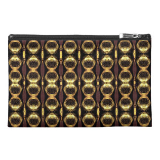 Golden Pattern Travel Accessory Bag