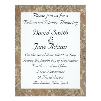 Golden pattern - wedding rehearsal dinner card
