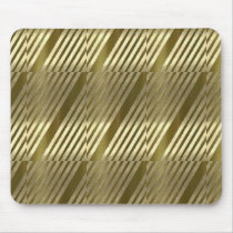 Golden Patterned Mouse Pad