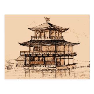 Golden Pavilion - Kyoto, Japan Postcard