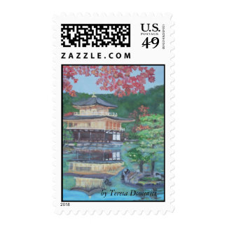 Golden Pavillion in Kyoto Postage Stamps