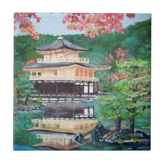 Golden Pavillion in Kyoto Tile