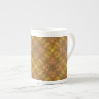 Golden Peach & Yellow Squares Espresso Mug Tea Cup