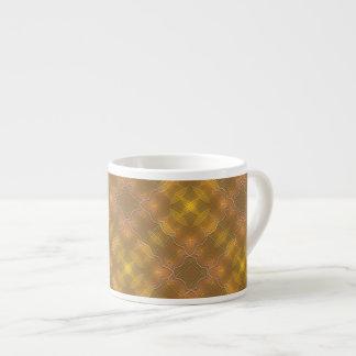 Golden Peach & Yellow Squares Espresso Mug 6 Oz Ceramic Espresso Cup
