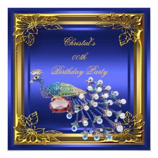 Golden Peacock Elite Elegant Birthday Party Invitation