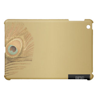 Golden Peacock Feather iPad Case For The iPad Mini